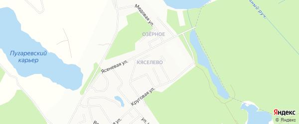 Территория ДНП Кяселево на карте Всеволожского района Ленинградской области с номерами домов