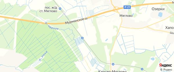 Карта массива Соржи-Рыжики Ленинградской области с районами, улицами и номерами домов