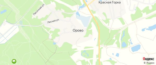 Карта деревни Орово в Ленинградской области с улицами и номерами домов