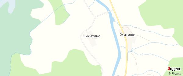 Карта деревни Никитино в Псковской области с улицами и номерами домов