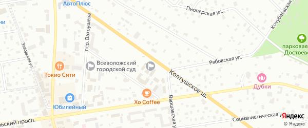 Усадебная улица на карте Всеволожска с номерами домов