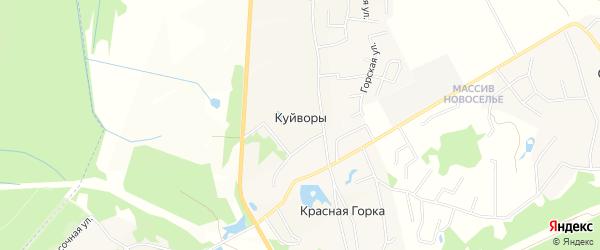 Карта деревни Куйворов в Ленинградской области с улицами и номерами домов