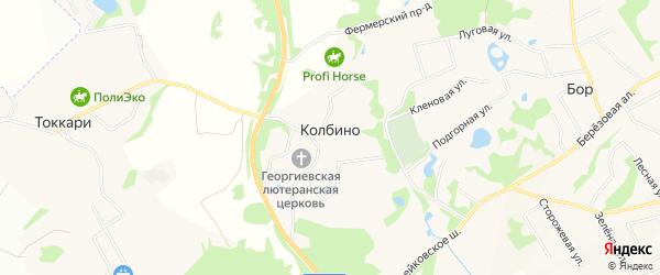 Зона Колбино на карте Всеволожского района Ленинградской области с номерами домов