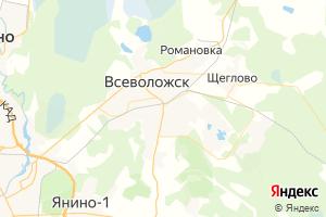 Карта г. Всеволожск Ленинградская область