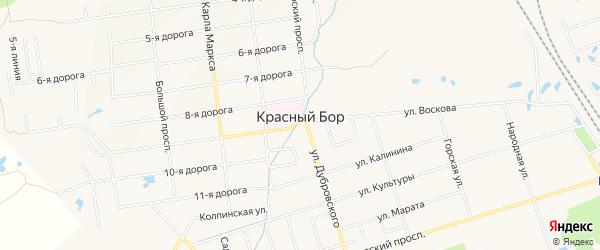 Карта СНТ Горки массива Трубников Бор в Ленинградской области с улицами и номерами домов