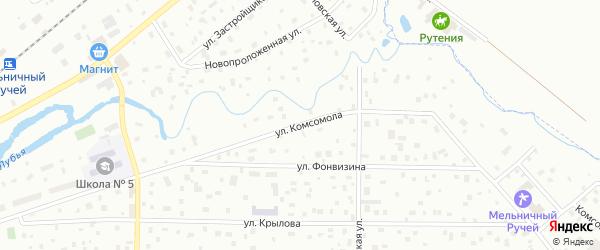 Улица Комсомола на карте Всеволожска с номерами домов