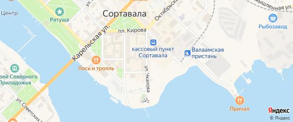 Улица Чкалова на карте Сортавалы с номерами домов