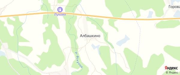 Карта деревни Албашкино в Псковской области с улицами и номерами домов