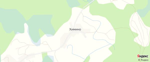Карта деревни Химино в Псковской области с улицами и номерами домов