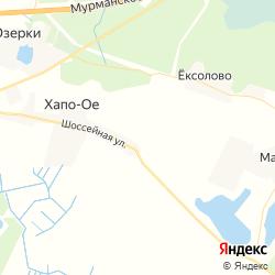 Участки для строительства домов в деревне Хапо-Ое на карте