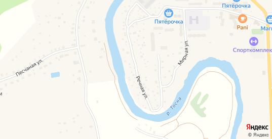 Речная улица в Никольском с номерами домов на карте. Спутник и схема онлайн