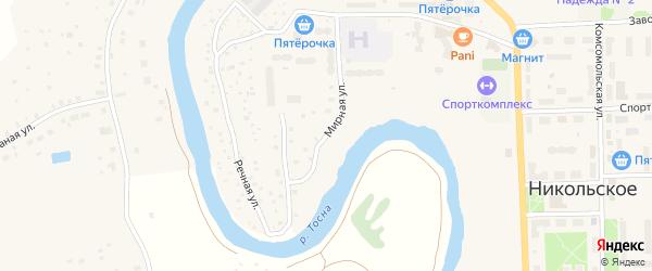 Мирная улица на карте Никольского с номерами домов