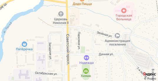 Парковая улица в Никольском с номерами домов на карте. Спутник и схема онлайн