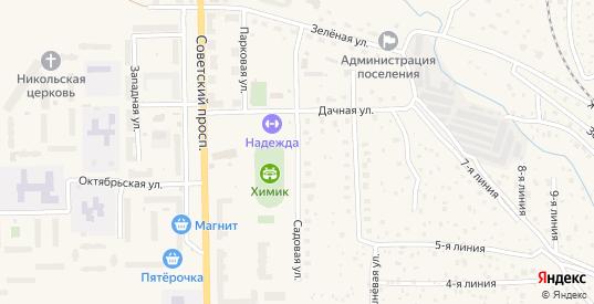 Садовая улица в Никольском с номерами домов на карте. Спутник и схема онлайн