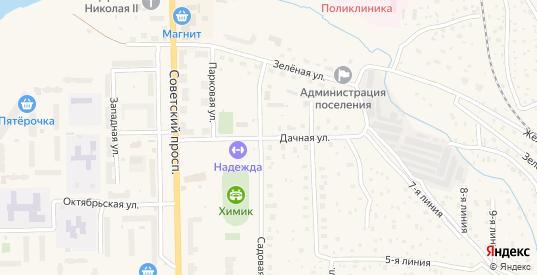 Дачная улица в Никольском с номерами домов на карте. Спутник и схема онлайн