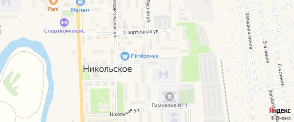 Пионерская улица на карте Никольского с номерами домов