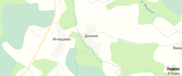 Карта деревни Дохино в Псковской области с улицами и номерами домов