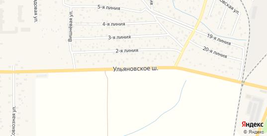 Ульяновское шоссе в Никольском с номерами домов на карте. Спутник и схема онлайн