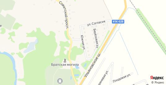 Южная улица в Никольском с номерами домов на карте. Спутник и схема онлайн