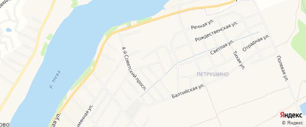 Территория ГСК Пелловский на карте Отрадного с номерами домов