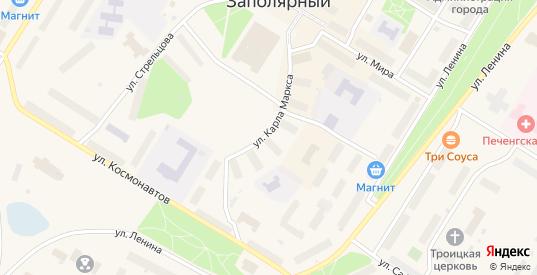 Улица Карла Маркса в Заполярном с номерами домов на карте. Спутник и схема онлайн