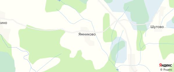 Карта деревни Ямниково в Псковской области с улицами и номерами домов
