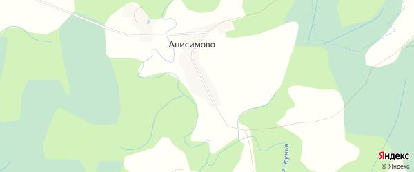 Карта деревни Анисимово в Псковской области с улицами и номерами домов