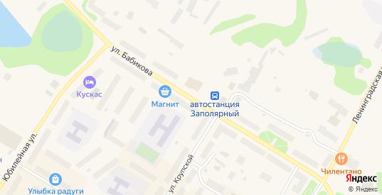 Улица Бабикова в Заполярном с номерами домов на карте. Спутник и схема онлайн