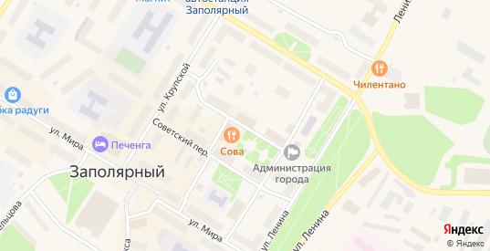 Ясный переулок в Заполярном с номерами домов на карте. Спутник и схема онлайн