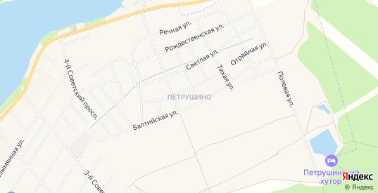 Карта деревни Петрушино в Ленинградской области с улицами, домами и почтовыми отделениями со спутника онлайн
