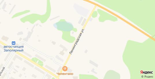 Ленинградская улица в Заполярном с номерами домов на карте. Спутник и схема онлайн