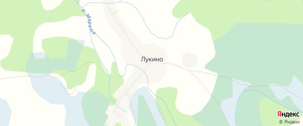 Карта деревни Лукино в Псковской области с улицами и номерами домов