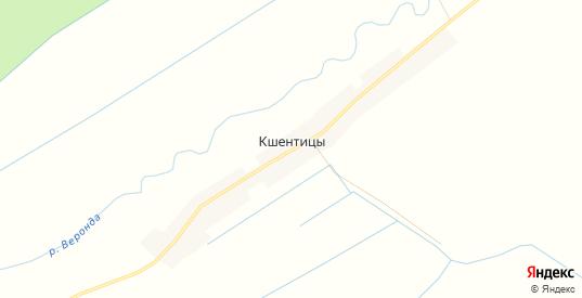 Карта деревни Кшентицы в Новгородской области с улицами, домами и почтовыми отделениями со спутника онлайн