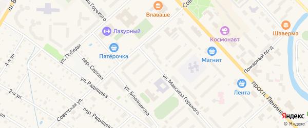 Улица М.Горького на карте Тосно с номерами домов