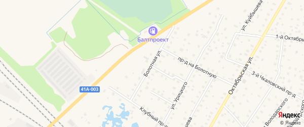 Болотная улица на карте Тосно с номерами домов