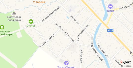 Улица Полины Осипенко в Тосно с номерами домов на карте. Спутник и схема онлайн