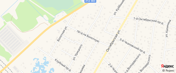 Проезд На ул Болотную на карте Тосно с номерами домов