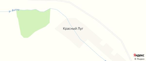 Придорожная улица на карте деревни Красного Луга Новгородской области с номерами домов