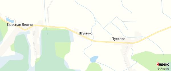 Карта деревни Щукино в Псковской области с улицами и номерами домов