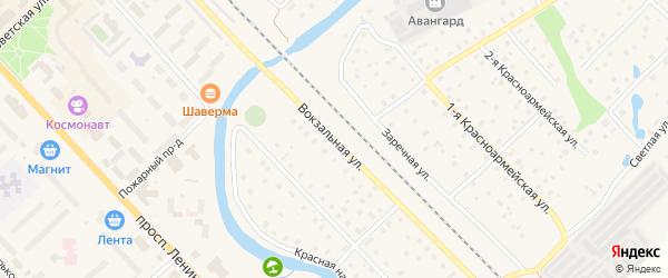 Вокзальная улица на карте Тосно с номерами домов