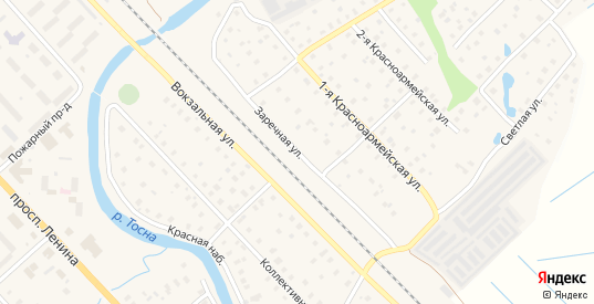 Заречная улица в Тосно с номерами домов на карте. Спутник и схема онлайн