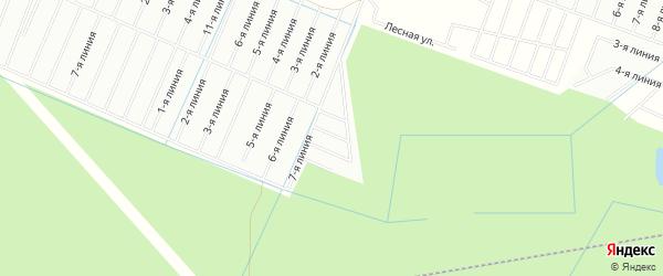 Карта садового некоммерческого товарищества Труда-2 массива Пробы в Ленинградской области с улицами и номерами домов