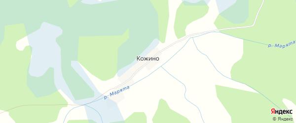 Карта деревни Кожино в Псковской области с улицами и номерами домов