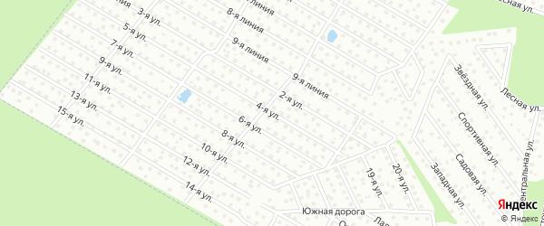 3-я улица на карте садового некоммерческого товарищества Бумпрома с номерами домов