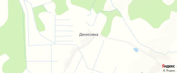 Карта деревни Денисовки в Псковской области с улицами и номерами домов