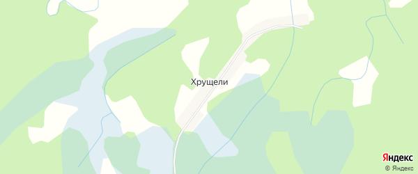 Карта деревни Хрущели в Псковской области с улицами и номерами домов