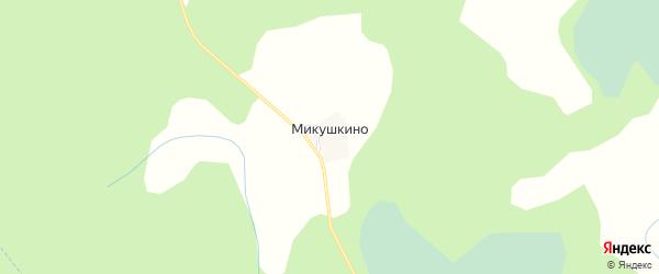 Карта деревни Микушкино в Псковской области с улицами и номерами домов