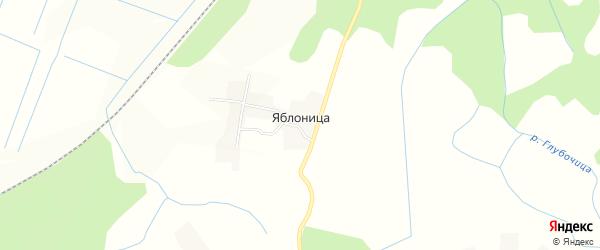 Карта деревни Яблоница в Псковской области с улицами и номерами домов