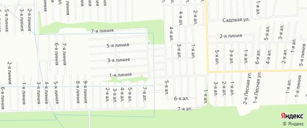 Карта садового некоммерческого товарищества Весна массива Дуная в Ленинградской области с улицами и номерами домов