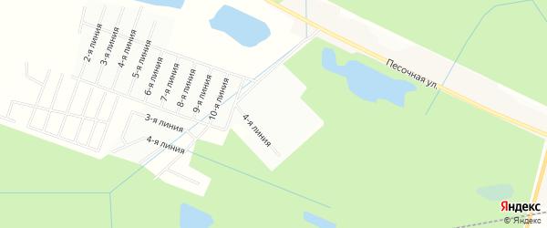 Карта садового некоммерческого товарищества Мастера массива Пробы в Ленинградской области с улицами и номерами домов
